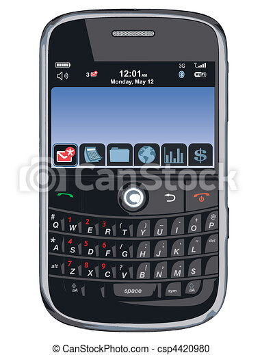 Vector cell phone / PDA /Blackberry - csp4420980
