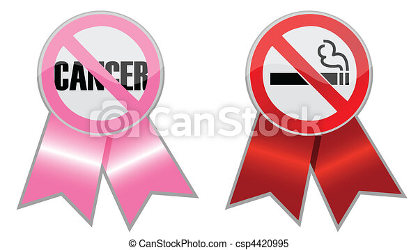 Anti Cancer and anti Smoking ribbon - csp4420995
