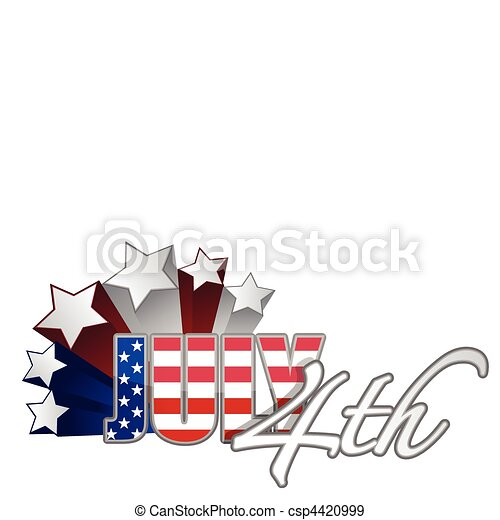 July 4th starts  / vector - csp4420999