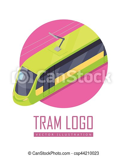 Tramway Vector Icon in Isometric Projection - csp44210023