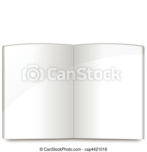 Blank book pages template - csp4421016