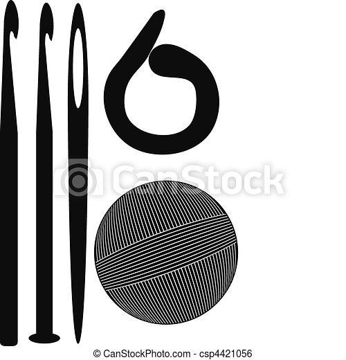 Крючок для вязания вектор