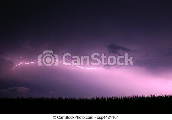 Lightning - northern Illinois - csp4421104