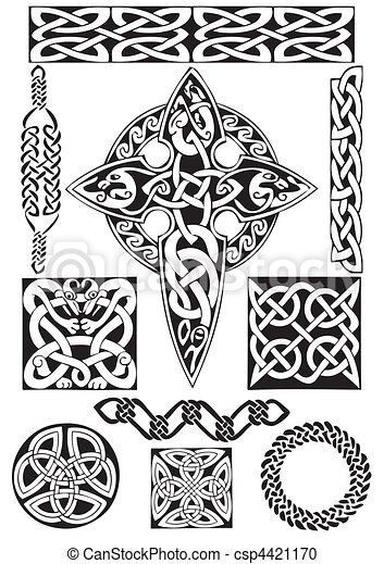 Celtic art-collection. - csp4421170