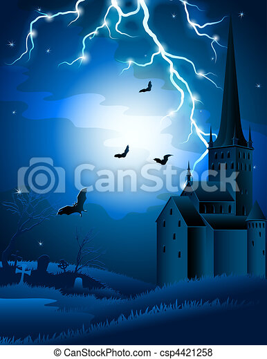 halloween background - csp4421258
