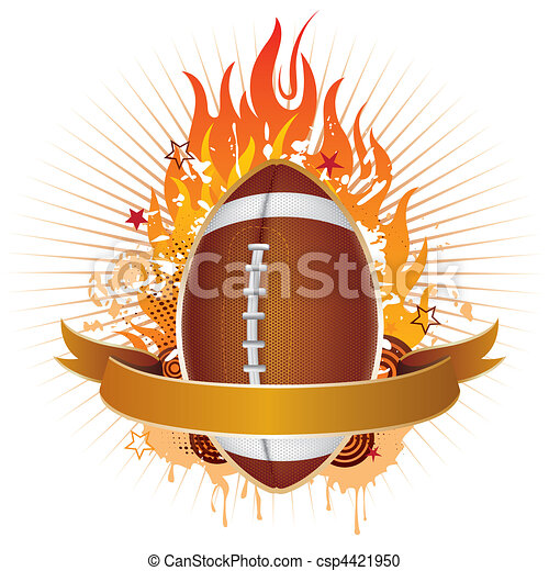 america football with flames - csp4421950