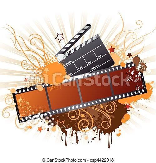 film strip,movie theme element - csp4422018