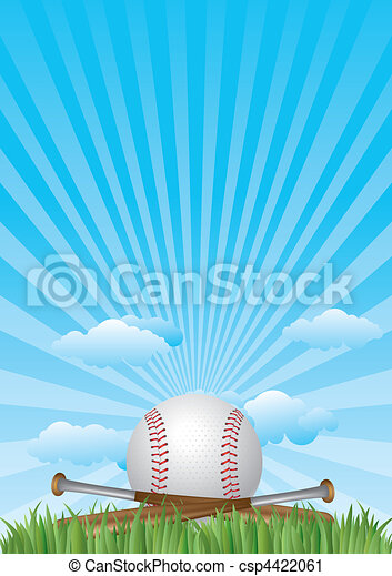 baseball with blue sky - csp4422061