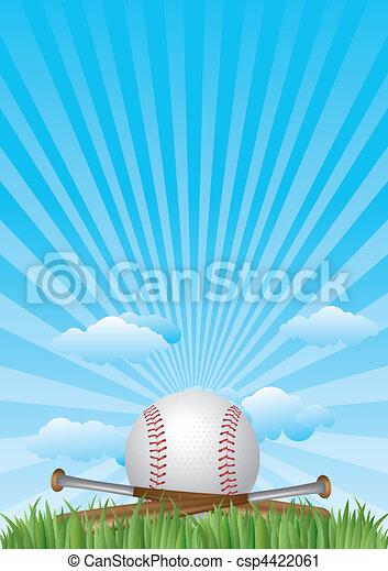 baseball with blue sky - csp4422061