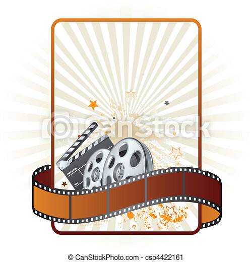 film strip, movie theme element - csp4422161