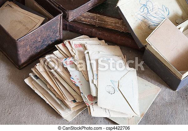 vintage correspondence - csp4422706