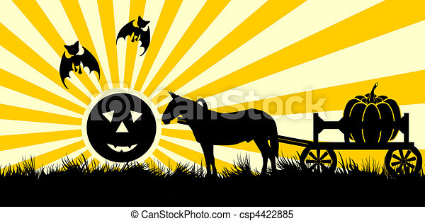 Decline in halloween - csp4422885
