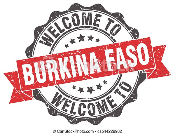 Burkina Faso round ribbon seal - csp44229982