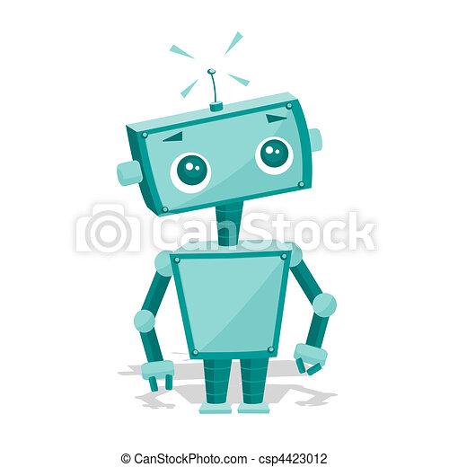 Cute Robot Logo Cute Cartoon Robot