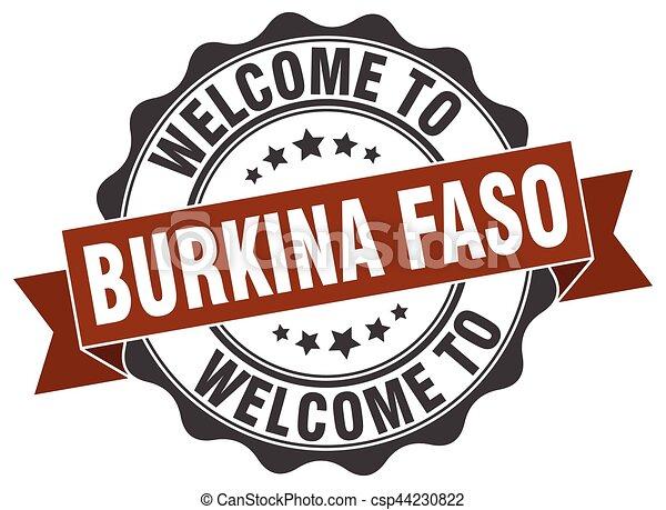 Burkina Faso round ribbon seal - csp44230822