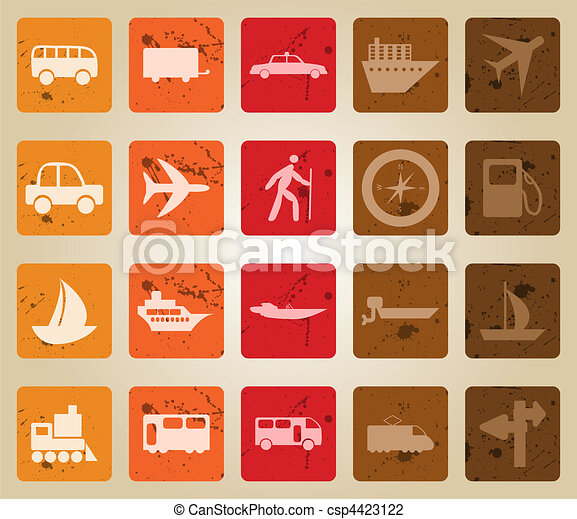 transportation icons set - csp4423122