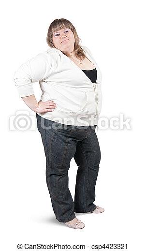 large woman  - csp4423321