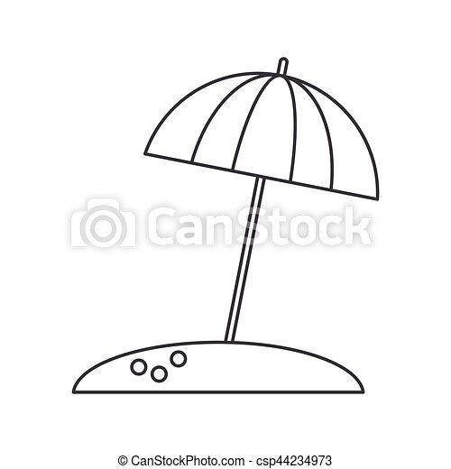 Sonnenschirm grafik  Vektoren Illustration von schirm, sonne, urlaub, dünne linie ...