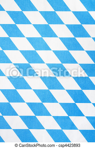 blue and white bavarian rhombus textile texture or background - csp4423893