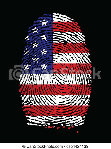 American Flag Fingerprint - csp4424139