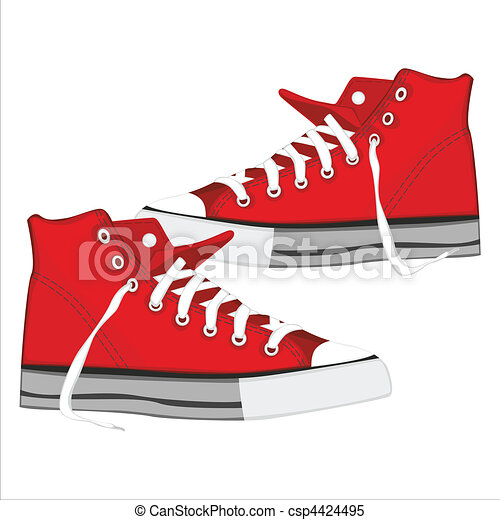 illustration of isolated shoes - csp4424495