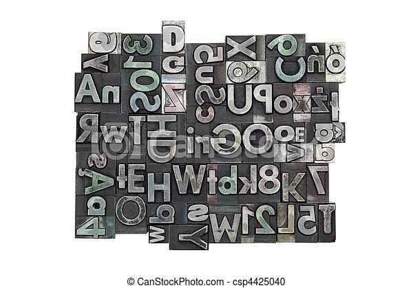 Random letterpress background - csp4425040