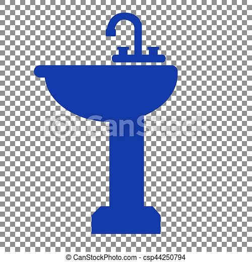 Bathroom Signs Eps eps vectors of bathroom sink sign. blue icon on transparent