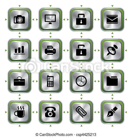 Business stylish icons set - csp4425213
