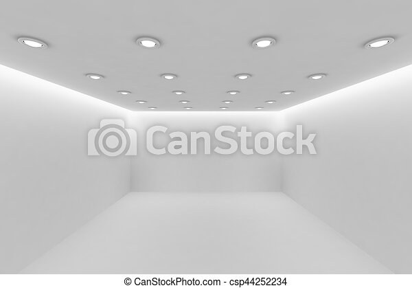stock de techo habitacin lmparas perspectiva pequeo blanco redondo vaco vista