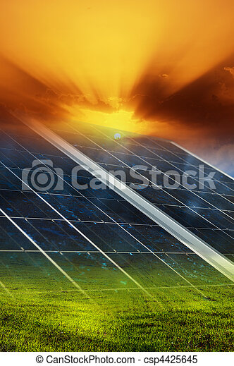 Solar panel background - csp4425645