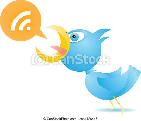 Blue Bird RSS - csp4426448