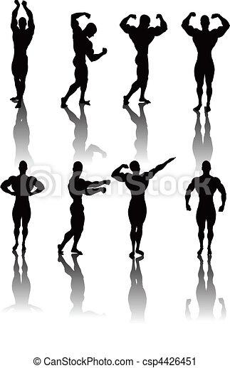 Classic Bodybuilding Poses - csp4426451