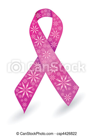 Breast cancer ribbon in pink - csp4426822