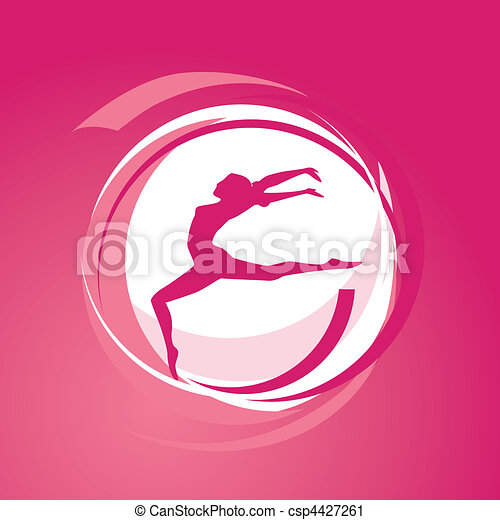 Girl gymnastics vector - csp4427261