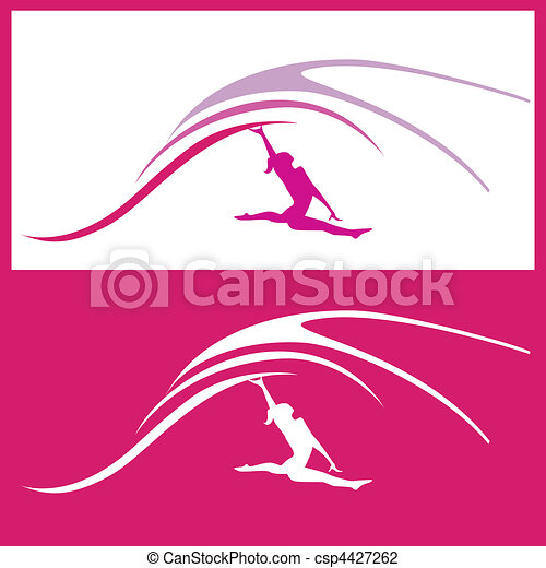 Woman gymnastics vector  - csp4427262