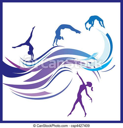 Woman gymnastics - csp4427409