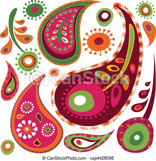 Exotic paisley pattern - csp4428098