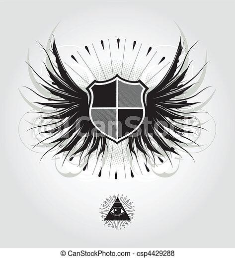 heraldic shield - csp4429288