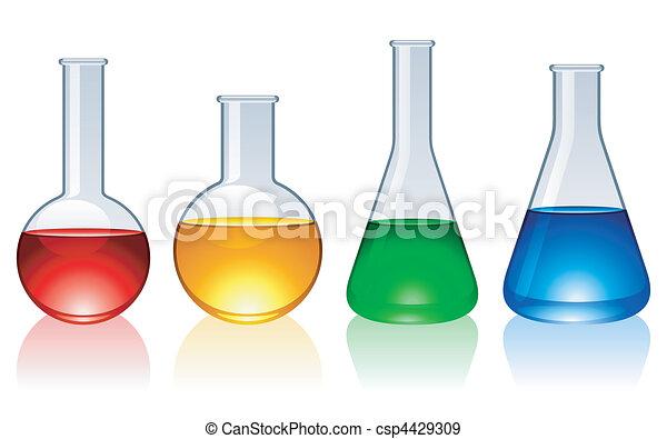 Glass flasks. - csp4429309
