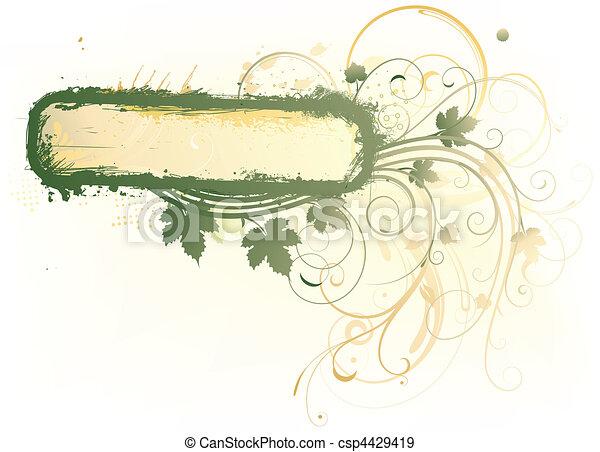 Floral Decorative background - csp4429419