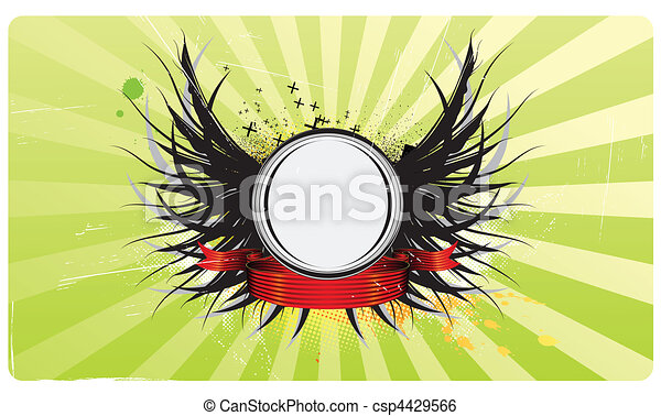 insignia with wings - csp4429566