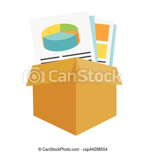 Marketing Company Digital Products Icons with Collateral and Packing Box - csp44298554