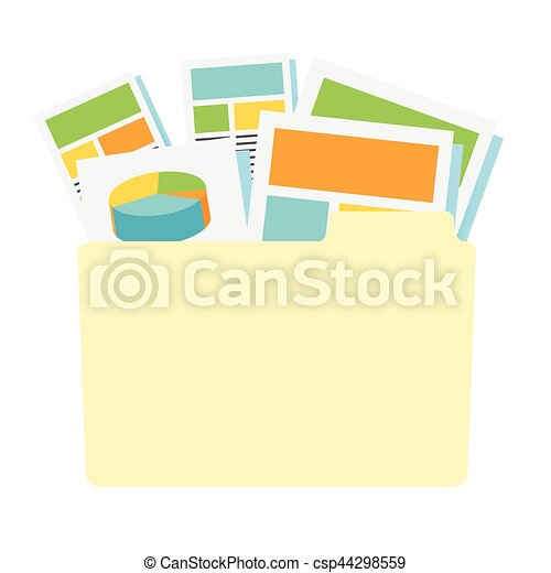Marketing Company Digital Products Icons with Collateral and Packing Box - csp44298559