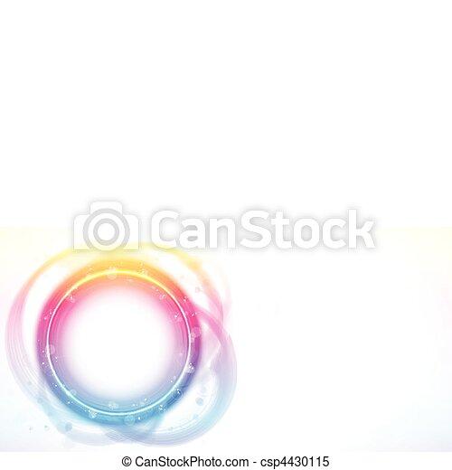 Rainbow Circle Border Frame Brush Effect. - csp4430115