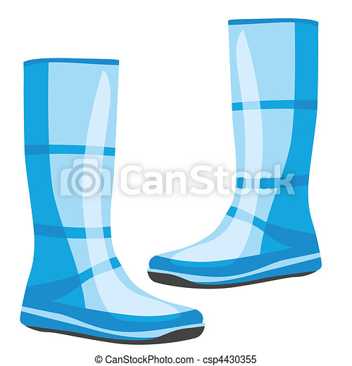 isolated rubber boots - csp4430355
