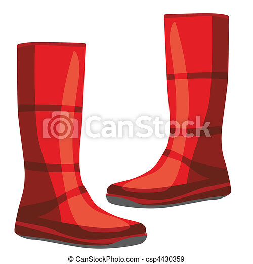 isolated rubber boots - csp4430359