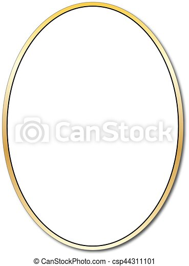Gold oval - csp44311101
