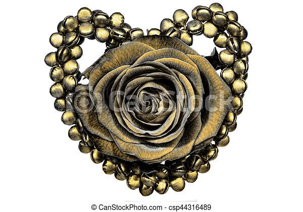 Stock illustratie van versiering hart goud roos a for Versiering goud