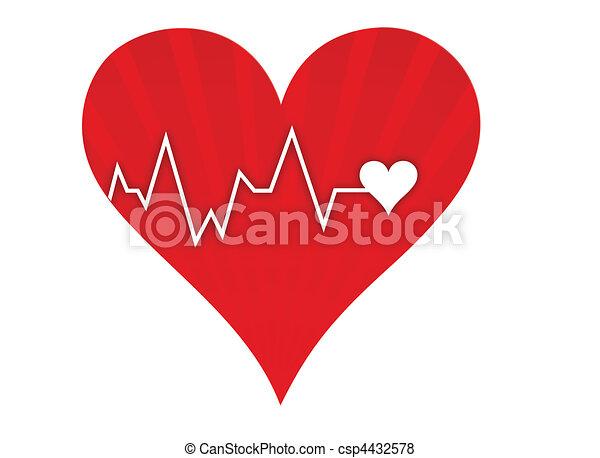 Heart beat lifeline - csp4432578