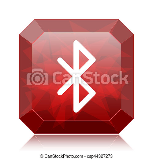 Stock Illustrations of Bluetooth icon, red website button on white ...